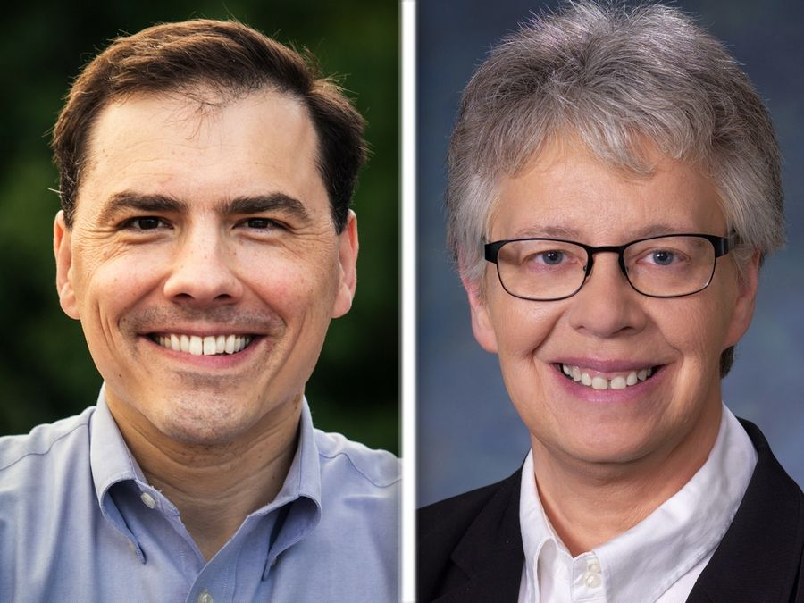 Tom Morrison, left, and Maggie Trevor, right, are candidates for House District 54 in the 2020 election.