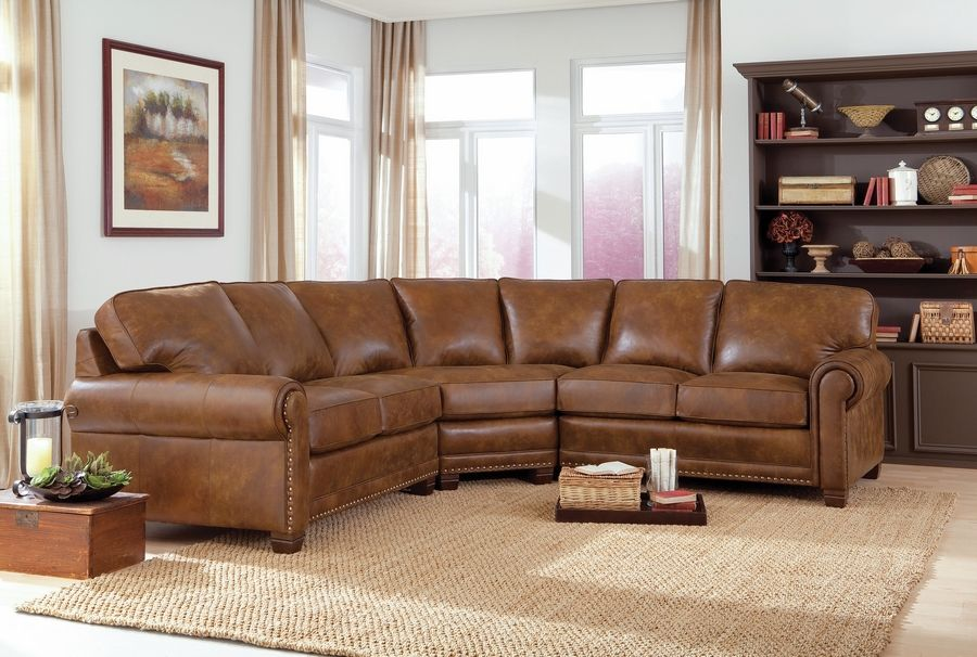 Custom-made leather sectionals can be designed to fit any room or home.