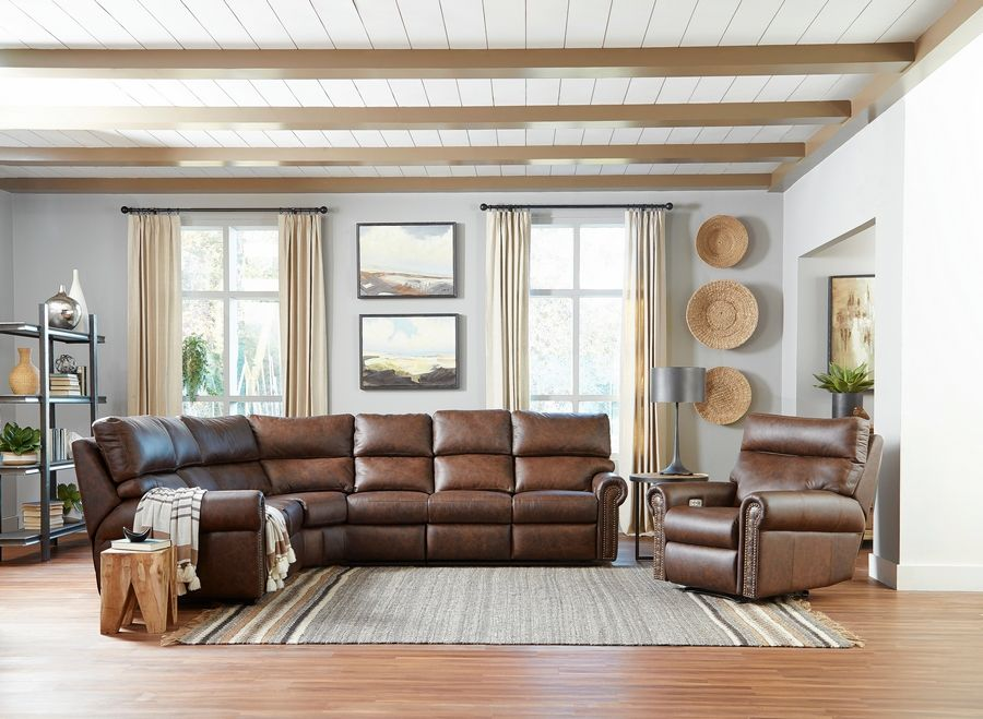 Larger sectionals are more difficult to move into a basement unless it breaks down into three or four sections.