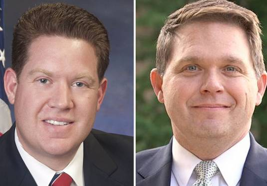 Michael Nerheim, left, and Eric Rinehart are candidates for Lake County state's attorney