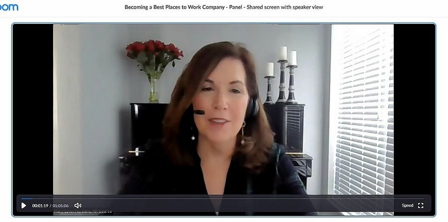 "Mary Lynn Fayoumi, CEO of HR Source, moderates Tuesday's Daily Herald Business Ledger webinar, ""Becoming a Best Places to Work Company."""
