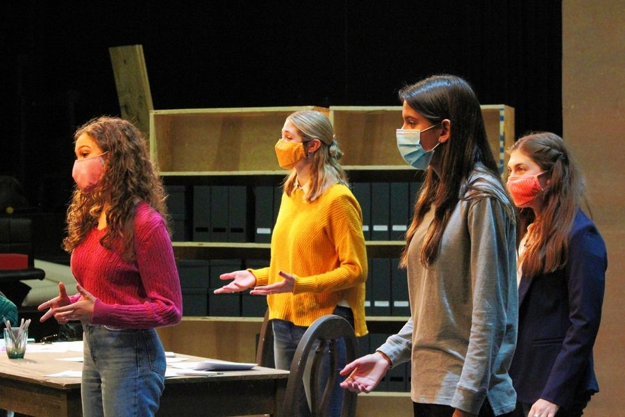 "The play ""Making Gay History: Before Stonewall"" includes Deerfield High School cast members, from left to right, Anabella Parisi, Lilah Landsman, Rachel Nieder and Livia Cohen."