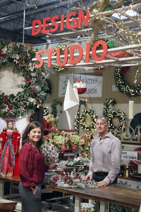 Laurie Kane and her husband, Joe Kane, own Treetime Christmas Creations and work to update the displays and ideas for decorating to keep their customers up on the latest trends.