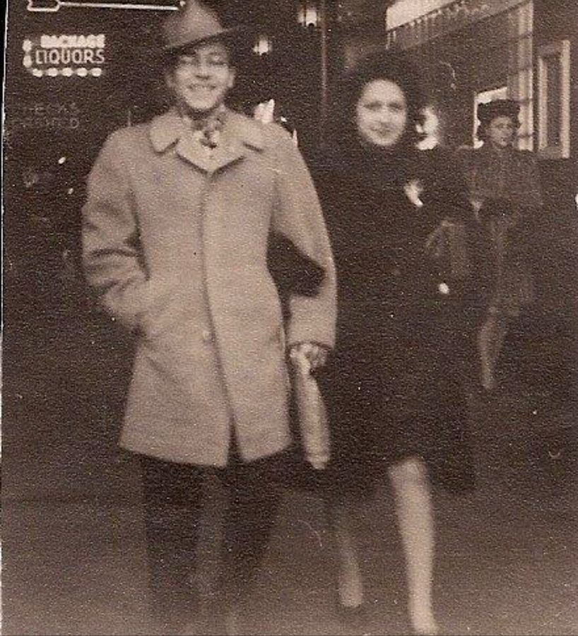 This photograph from their first date was a good omen for Carmen Siciliano and Mary Monstere. They were married for more than 76 years.