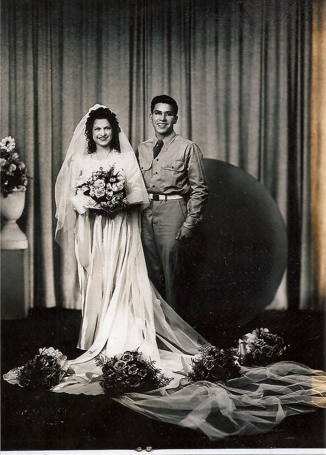 Home on leave from World War II, Carmen Siciliano and Mary Monstere celebrated their wedding on Aug. 5, 1944, to start a marriage that lasted more than 76 years.