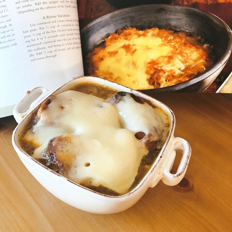 Soupalooza's Eileen Brown tackles the multi-stepped recipe of Julia Child's for French Onion Soup. It takes awhile but it's worth the wait.