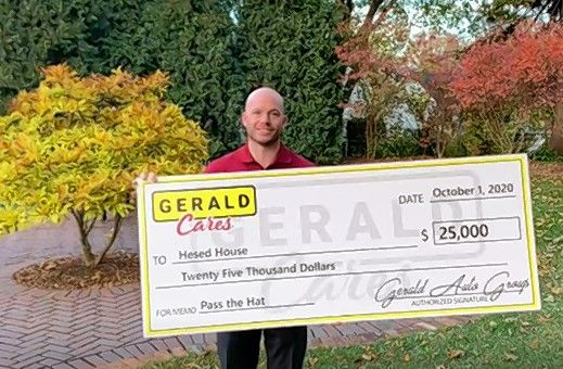 Gerald Auto Group through its Gerald Cares initiative has been instrumental in helping Hesed House serve the growing needs of the homeless in the area throughout the pandemic.