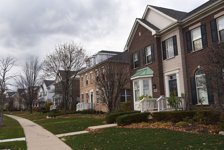 View of homes at The Glen in Glenview recently.
