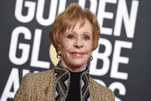 "REMOVES REFERENCE TO HULU - FILE - Carol Burnett arrives at the 76th annual Golden Globe Awards on Jan. 6, 2019, in Beverly Hills, Calif.. Episodes of ""The Carol Burnett Show"" are available on streaming services like Tubi and The Roku Channel. (Photo by Jordan Strauss/Invision/AP, File)"
