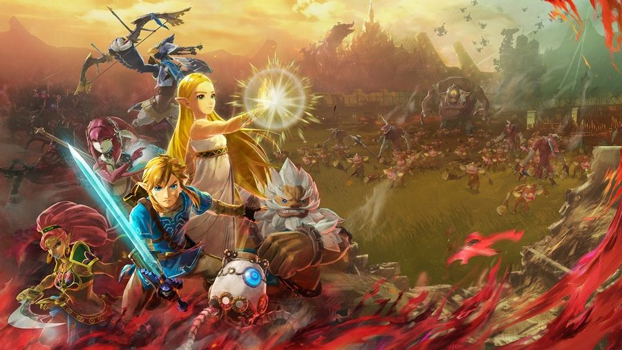 "A scene from ""Hyrule Warriors: Age of Calamity."""