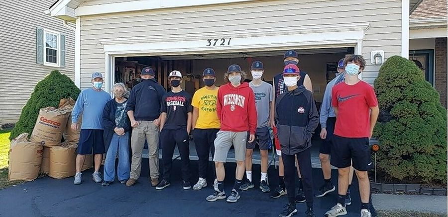The Crystal Lake Bombers Baseball Inc. volunteer to help with several yard work projects. These projects help maintain McHenry County seniors' independence.