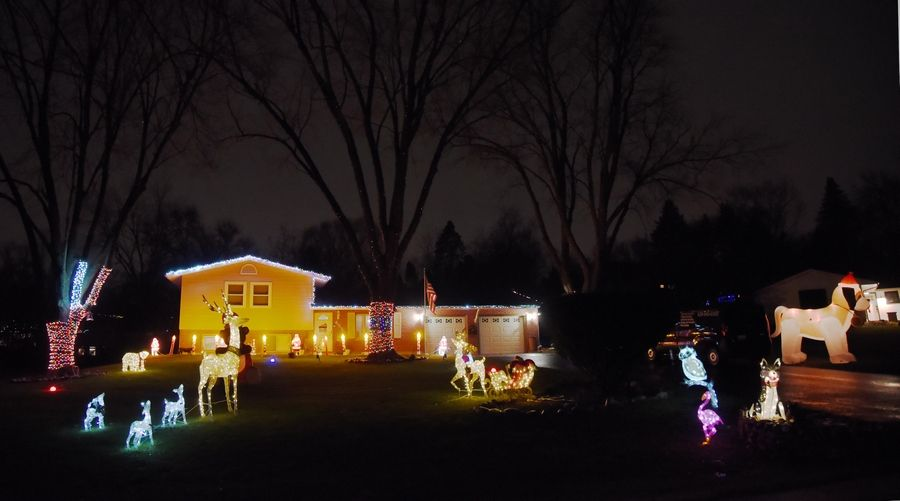 Sprawling holiday lights are already on a home Tuesday on Willow Lane in Sleepy Hollow.