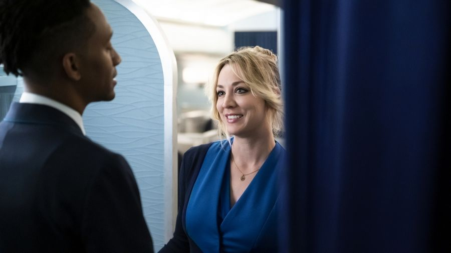 "Cassie Bowden (Kaley Cuoco) has a lot of issues to work through in ""The Flight Attendant"" on HBO Max."