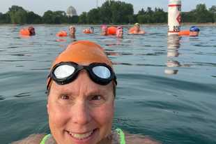 "A member of the International Marathon Swimming Hall of Fame, Marcia Cleveland saw her induction and several swimming events canceled this year due to the pandemic. Now she's swimming an ""ice mile"" several times a week in frigid Lake Michigan."