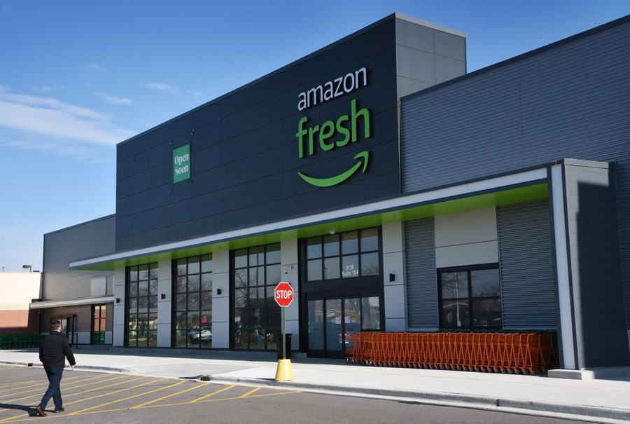 The state's first Amazon Fresh store is slated to open Thursday along Route 59 in Naperville.