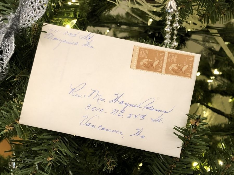 Clearing out his parents' home, the Rev. Greg Asimakoupoulos recently found a Christmas card from 1956 addressed to close family friends. The envelope was sealed and stamped, but it had never been mailed.