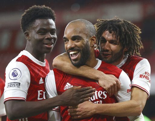 Arsenal lifts gloom with 3-1 win against Chelsea in EPL