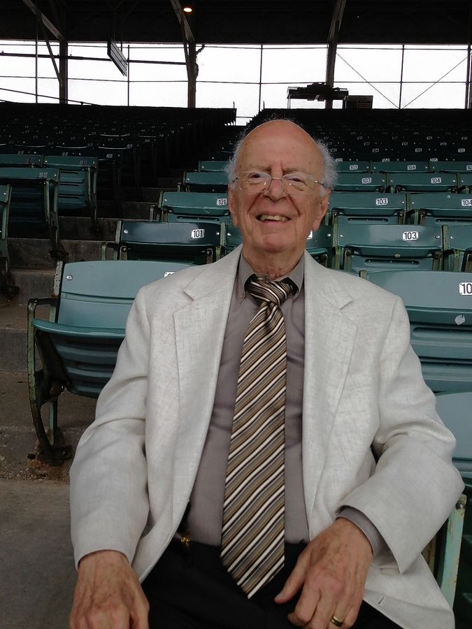 "WGN TV and radio sports producer Jack Rosenberg in 2013 at Wrigley Field. ""Jack Rosenberg is the kind of man you're lucky to meet once in a lifetime,"" Jack Brickhouse once said."