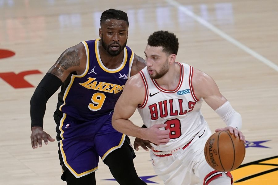 The Bulls tried to put up a challenge against the defending champion Los Angeles Lakers late Friday night. While Zach LaVine was hot at the start, the Bulls are still trying to figure out their defense.