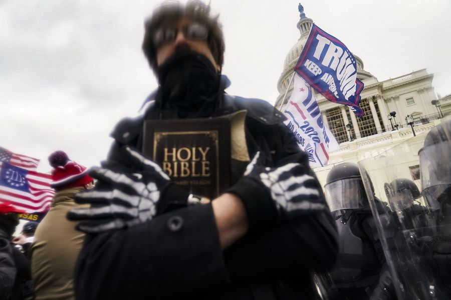 Wheaton College faculty members condemned Trump supporters' use of Christian symbols outside the Capitol in Washington last Wednesday, as well as the siege on the Capitol itself.