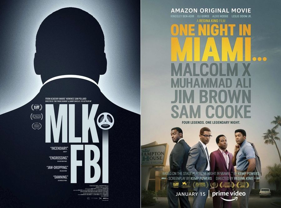 """MLK/FBI"" is available on demand on Jan. 15 and the film ""One Night in Miami"" starts streaming Jan. 15 on Amazon Prime."