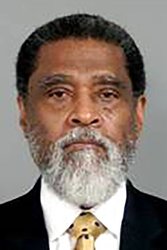 This image provided by the Genesee County Sheriff's Office in Flint, Mich., shows Darnell Earley, the former Flint, Mich., Emergency Manager, who was charged with three felony counts of misconduct in office, Thursday, Jan. 14, 2021, in connection with the Flint, Mich., water crisis. (Genesee County Sheriff's Office via AP)