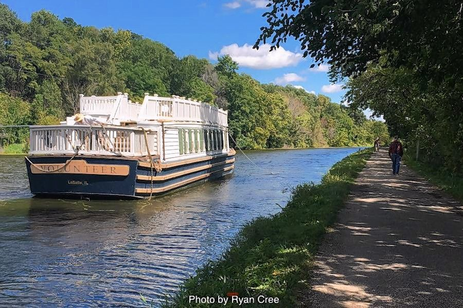 The Illinois I & M Canal State Trail, part of the Rails to Trails Ride Across America.