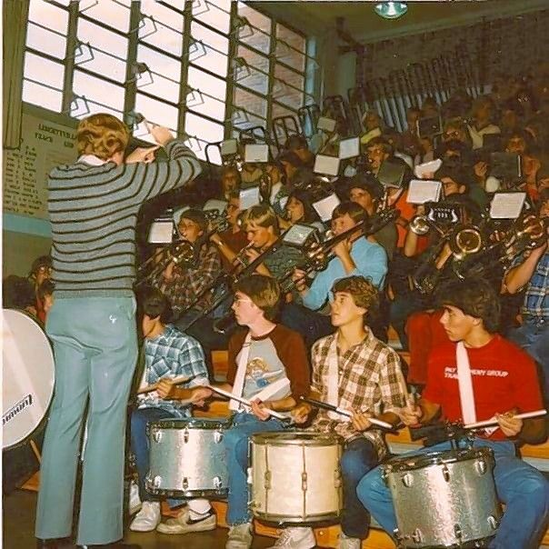 A drummer at Libertyville High School, Bret Zwier, bottom right, sometimes played with fellow Libertyville graduate Tom Morello, the founder of Rage Against the Machine. Morello recently donated an autographed guitar to a Go Fund Me account for Zwier's son.