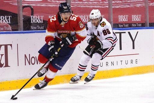 Vatrano scores overtime goal, Panthers over Blackhawks 5-4