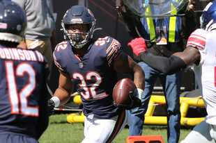Bears running back David Montgomery had an excellent sophomore season, but he can be helped by a go-to No. 2 running back.