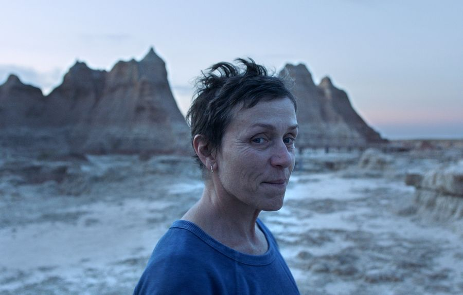 "Frances McDormand stars in ""Nomadland,"" named one of the top 10 films of the year by The American Film Institute."