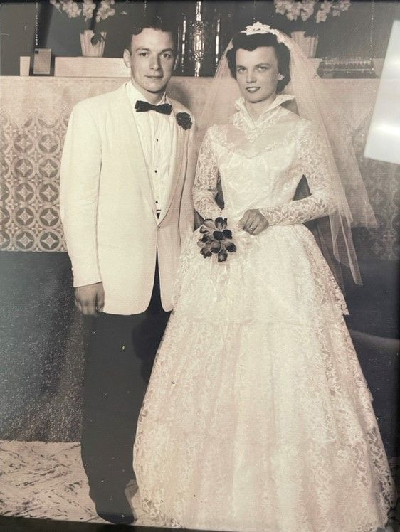 Joann and Ron Deatsch pictured on their wedding day more than 60 years ago are in for a big Valentine's surprise on February 12 at Aspired Living of Prospect Heights.