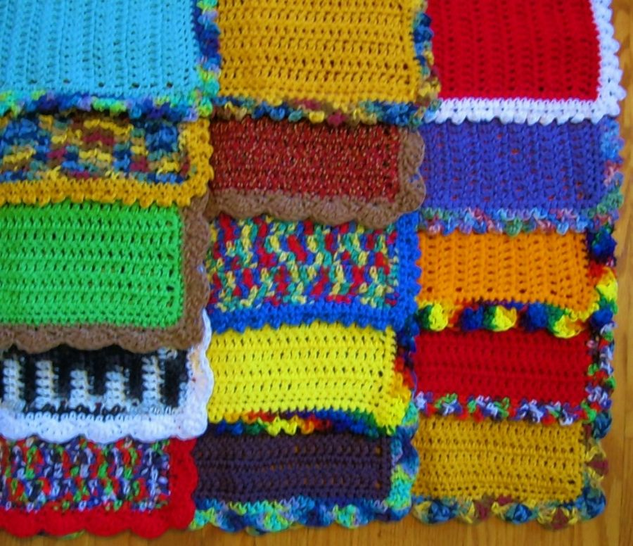 Blankets made by volunteers for Comfort for Critters.