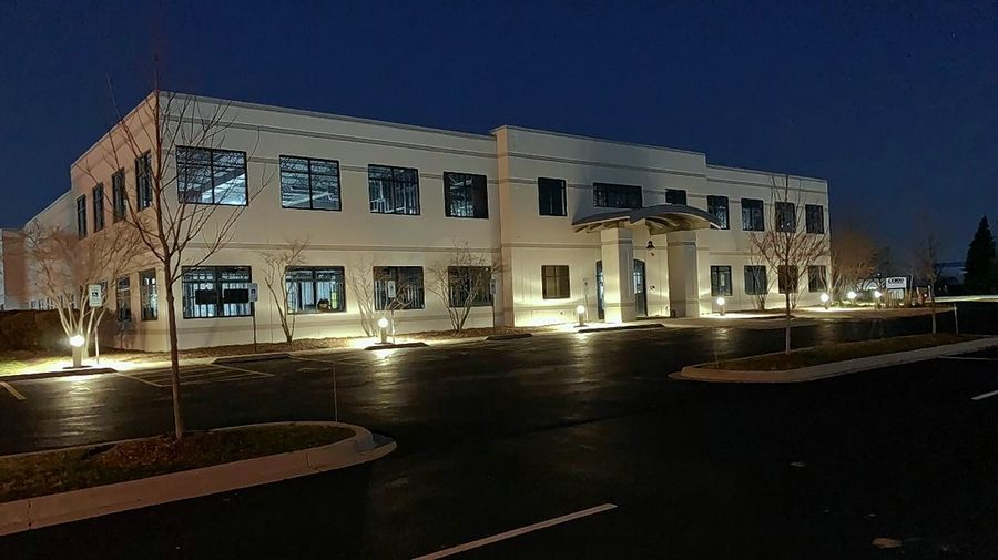U.S. Waterproofing will make this extensively renovated building at 81 Remington Road in Schaumburg its new headquarters Friday, as the 65-year-old company returns to the village from its home of the past 14 years in Rolling Meadows.