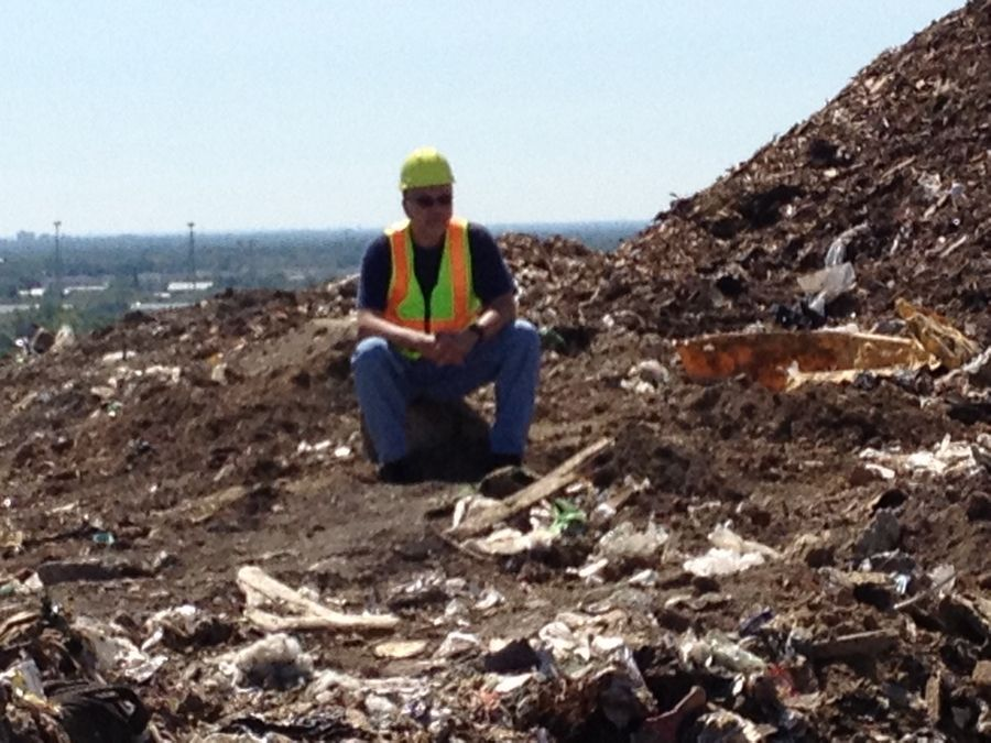 Lake County Major Crime Task Force Commander George Filenko searches a landfill in Zion for a baby's body in August 2013. Filenko says that crime took a physical and emotional toll on everyone involved.