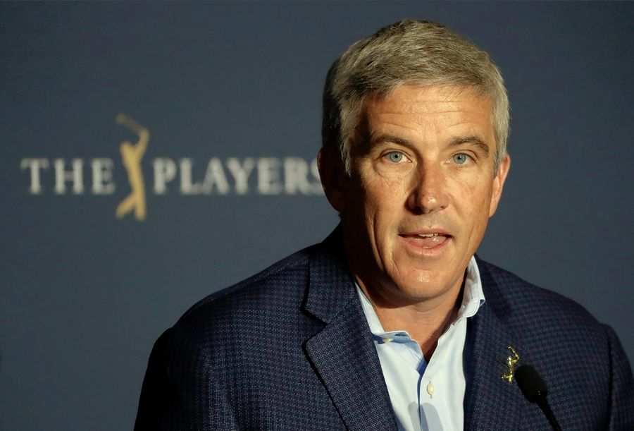 PGA Tour Commissioner Jay Monahan announced a year ago there would be no fans at The Players Championship. Ten hours later he decided to cancel the rest of the tournament due to the pandemic.
