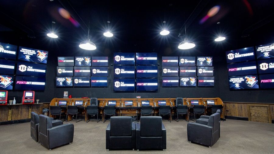 The renovated and rebranded PointsBet Sportsbook at Club Hawthorne in Prospect Heights features 100 TVs showing live sports and horse racing from across the country.