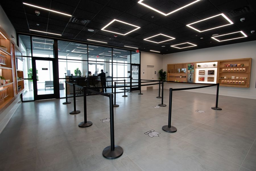 Lombard's first recreational-use marijuana dispensary, Zen Leaf, opened Friday at 783 Butterfield Road, the site of a former Anthony's Pizza restaurant.