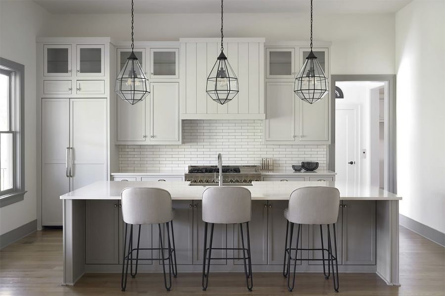 Amhad Freeman, founder of the Nashville, Tennessee-based Amhad Freeman Interiors, designed this kitchen. He says clients now have time to really think about what they need from a room.