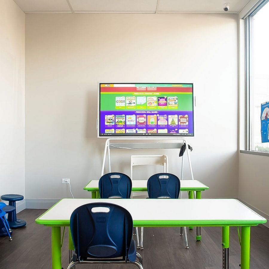 "The Mobile Therapy Centers of America has a ""mock"" room set up like a classroom to help children with autism adjust to a school environment."