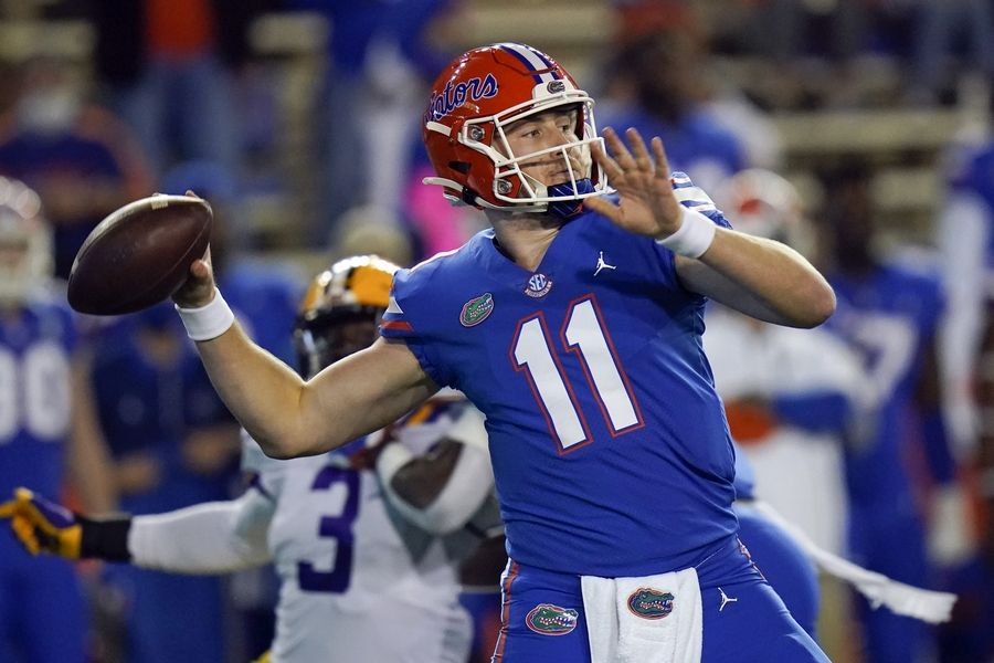 Florida quarterback Kyle Trask could be around on the second day of the NFL draft.