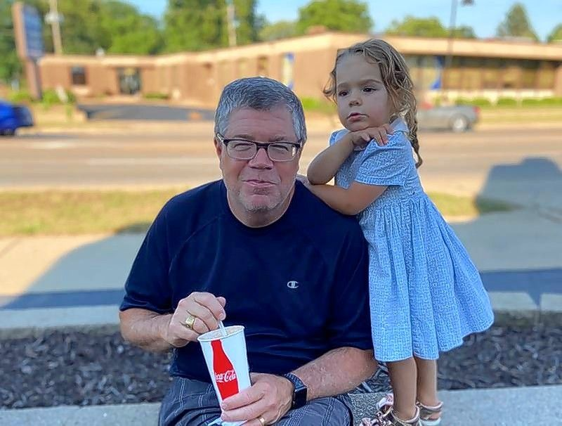 McHenry County Board member John Collins enjoys some ice cream with granddaughter Nora Brundage at The Freeze in Crystal Lake, Nora's favorite place.