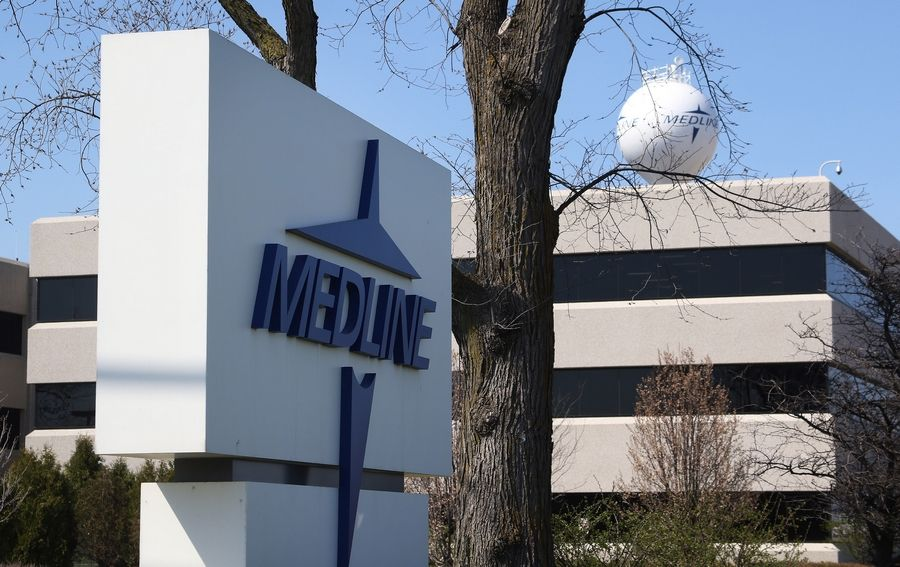 Medline Industries on Townline Road in Mundelein. Medline is the largest privately held manufacturer and distributor of health care supplies in the United States.