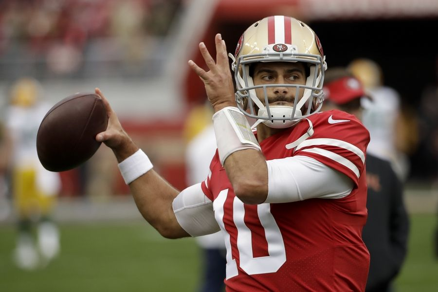 San Francisco quarterback Jimmy Garoppolo would be an improvement over Andy Dalton for the Bears, columnist Hub Arkush says.