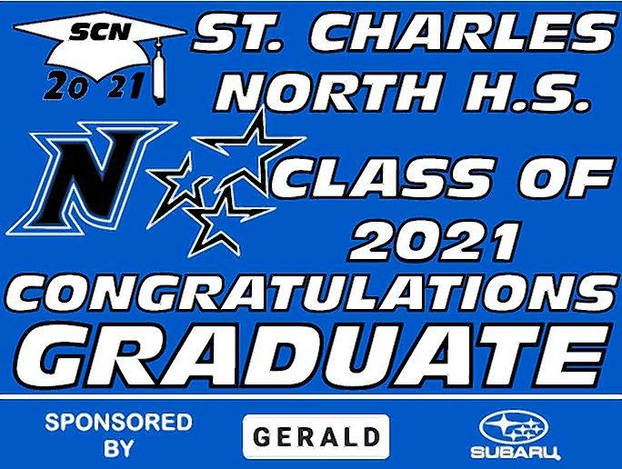 Gerald Auto Group's Gerald Cares is again supporting graduating seniors from St. Charles North High School with senior signs that community members display in their front yards.