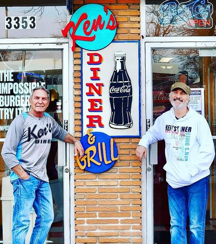 Brothers Kenneth, left, and Daniel Hechtman said they chose to stop taking donations for Ken's Diner from The Barstool Fund after receiving $20,000 because business started picking up.