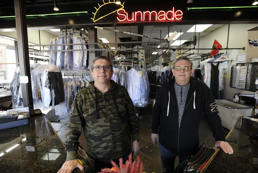 Constantine and Bill Zavacos of Sunmade Cleaners in Palatine were recipients of the Barstool Fund, which collects donations for small businesses that have suffered due to COVID-19. The owners received $30,000 to pay their property taxes and other expenses.