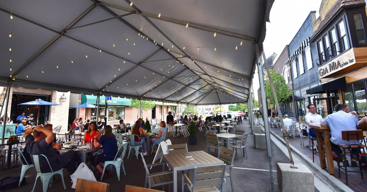 Parklets, tents, food alleys: Suburbs continue expanded outdoor dining this year