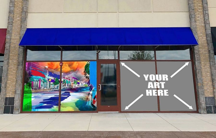 "Artists are invited to submit artwork for Algonquin Commons' ""Wondrous Windows"" juried art competition. Winners receive $500 and their art displayed on storefronts."