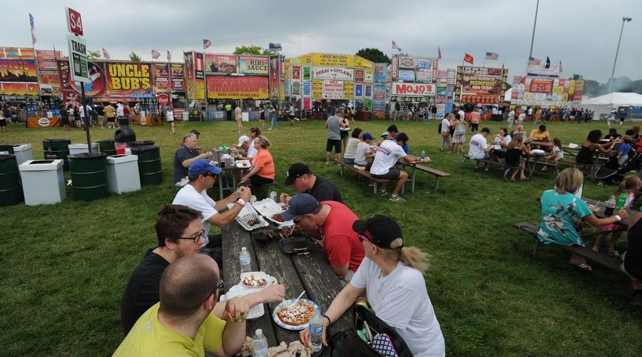Pictured here is Ribfest in Naperville two years ago. This year's event will be in Romeoville, and social distancing will be a top priority.